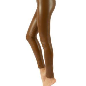 Leggings similpelle vintage cuoio