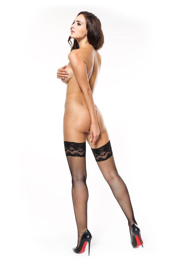 missO S605 fishnet stockings black back